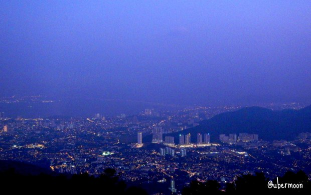 Penang at night, taken from Penang Hill