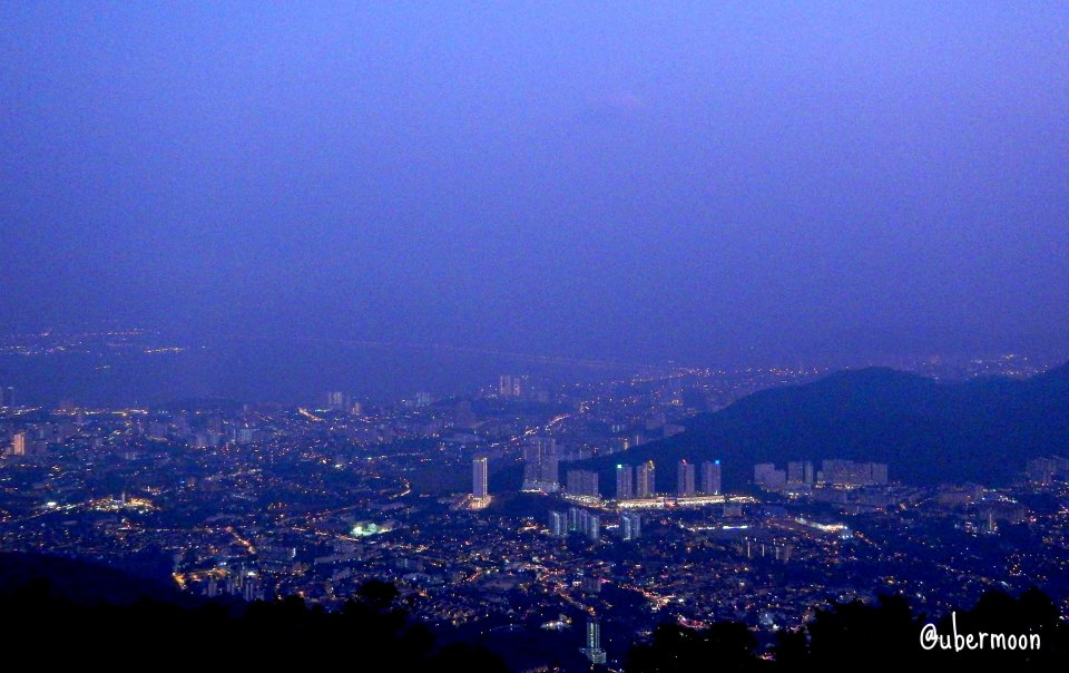 Penang at night, taken from Penang Hill