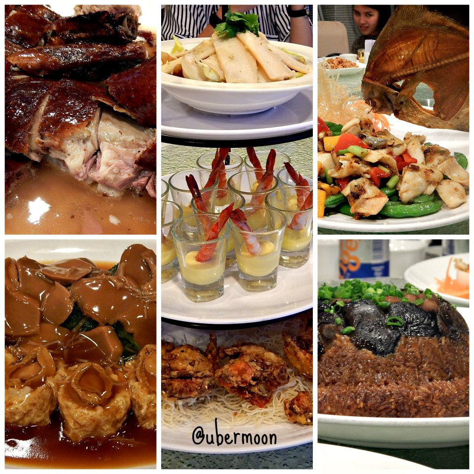 Some of the eight course dish.