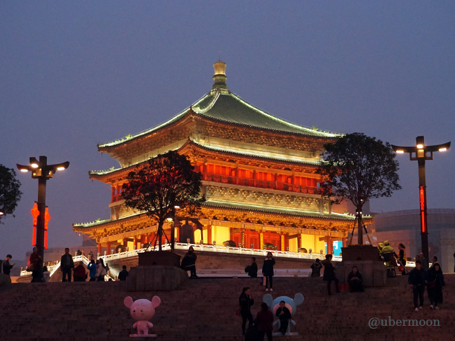 bell-tower-xian-at-night